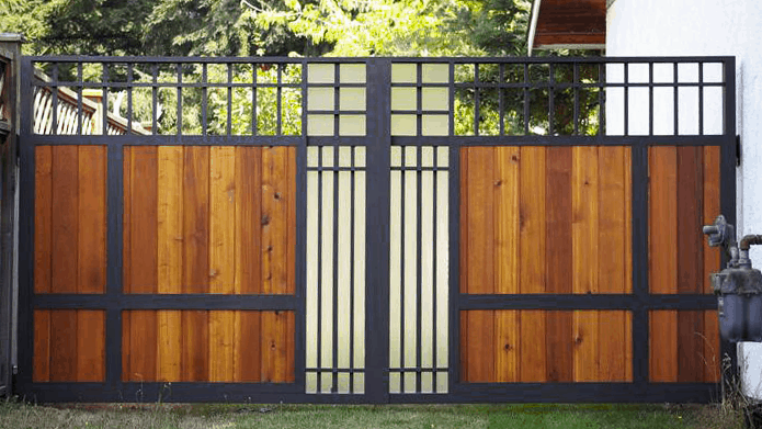 Custom double Gates with Cedar Boards Vancouver Gates