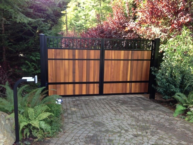 Double Swing Driveway Gate Vancouver