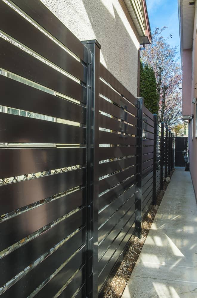 Aluminum Horizonal Slat Semi Privacy Fence - Vancouver, BC