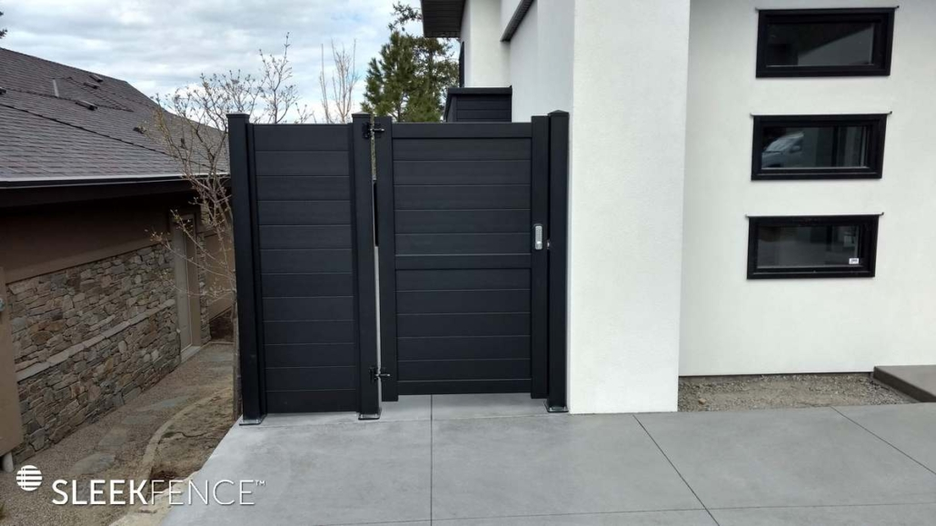 Black aluminum privacy fence and gate canada